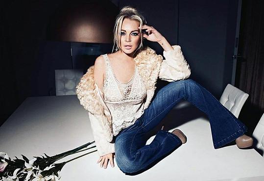 Lindsay začíná mít více zkušeností s modelingem, než s herectvím.
