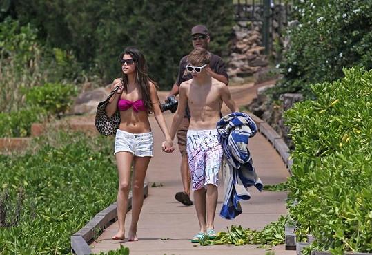 Justin se Selenou si na Havaji užívali jako dospělý pár.