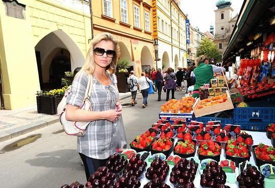 Machálková na tržišti v centru Prahy