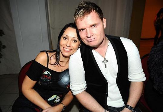 Heidi Janků se zpěvákem Martinem Francem.