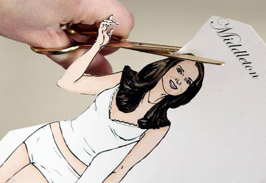 Kate Middleton jako vystřihovánka.