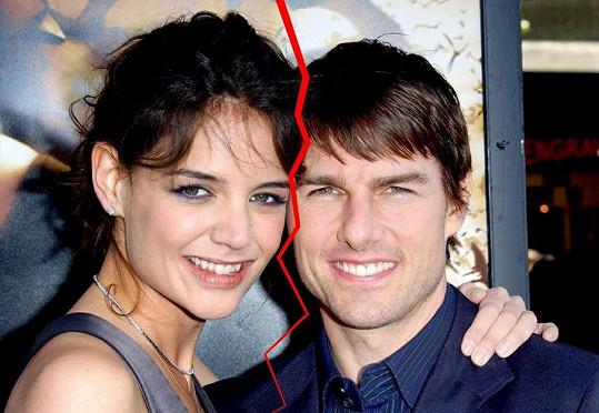 Manželství Toma Cruise a Katie Holmes je v troskách. Hercova sekta nyní Katie pronásleduje na každém kroku.