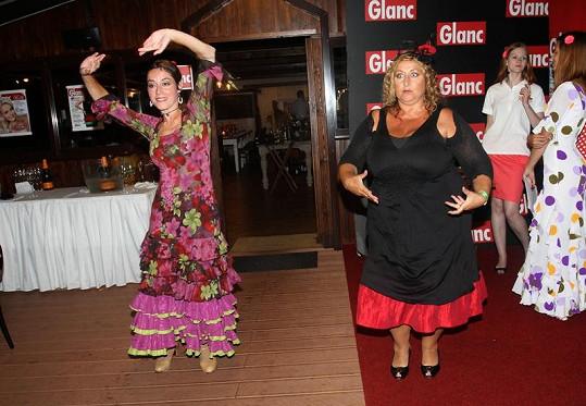 Halina při tanci.