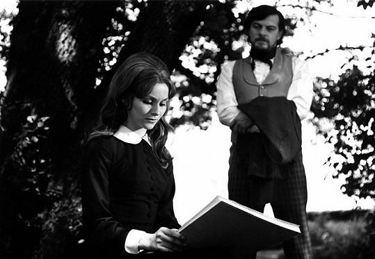 S Janem Kačerem v seriálu Jana Eyrová (1972)