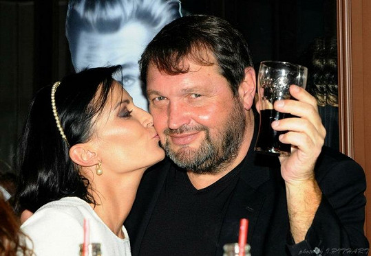 Gábina Partyšová s manželem Pepou Koktou.