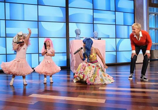 Sophia a Rosie si zazpívaly s jejich idolem Nicki Minaj.