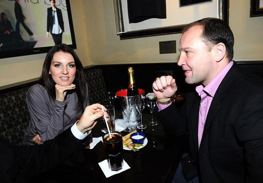 Lucie Králová s přítelem Jiřím Šlégrem.