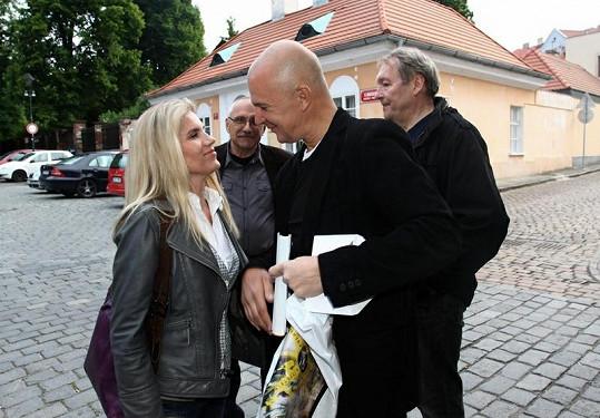 Ondřej Soukup s Leonou Machálkovou.