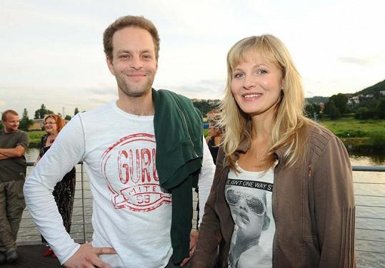 Michaela Badinková s otcem své dcery Janem Teplým.