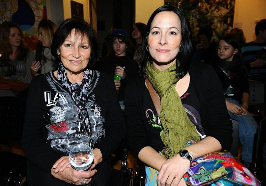 Marta s dcerou Kateřinou.
