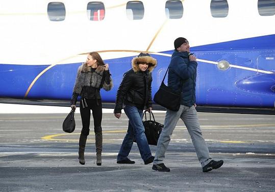 Andrea s manželem a miliardářem Igorem Rattajem.