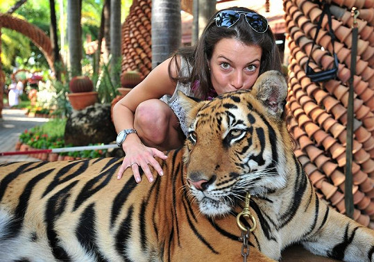 S tygrem se fotily jen ty odvážnější.