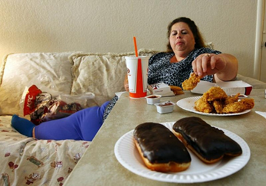 Američanka a její strava.