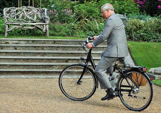 Princ Charles na výstavě v zahradách královského sídla v Londýně.