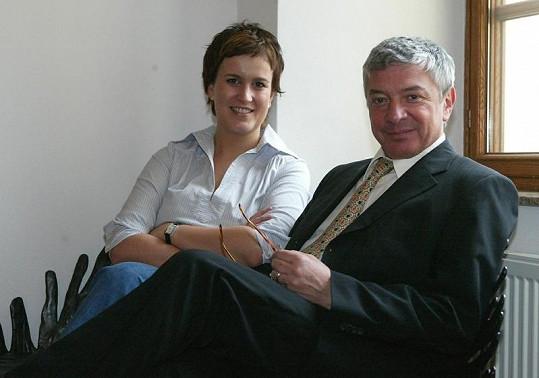 Vladimír Železný a jeho manželka.