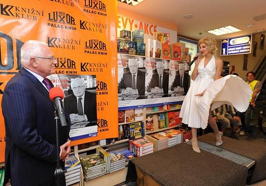 I český prezident má svoji Marylin.