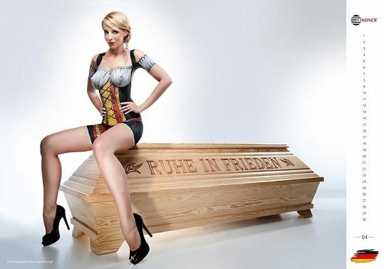 Krásná reprezentantka Německa.