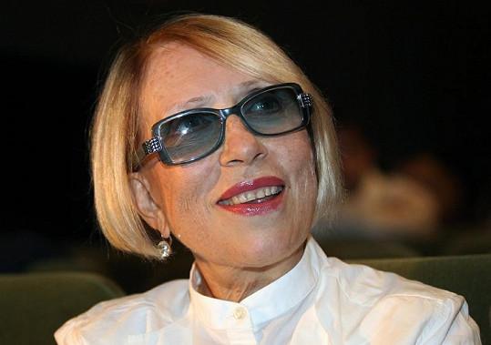 Herečka Inna Čurikova v divadle Lenkom.