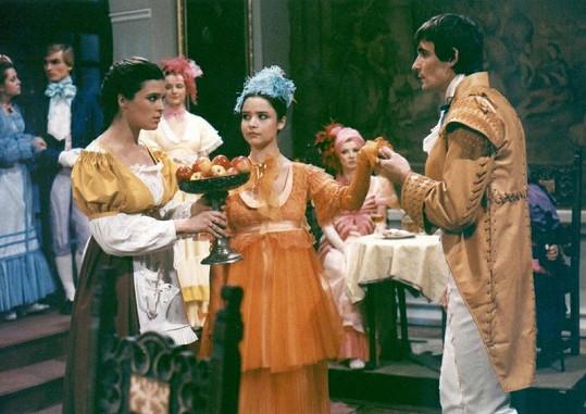 Mirka s Mahulenou Bočanovou a Janem Čenským v pohádce O nejchytřejší princezně (1987).