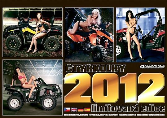 Obal kalendáře Čtyřkolky 2012.