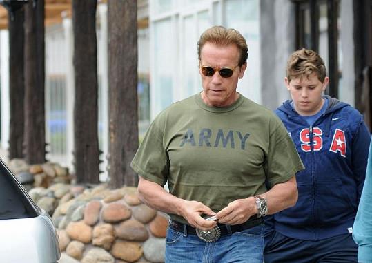 Christopher Schwarzenegger s otcem Arnoldem.