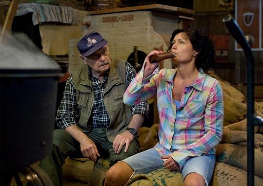 Simona Chytrová si s Luďkem Munzarem báječně rozumí.