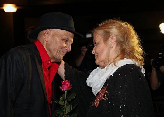 Jan Přeučil s Gabrielou Vránovou.