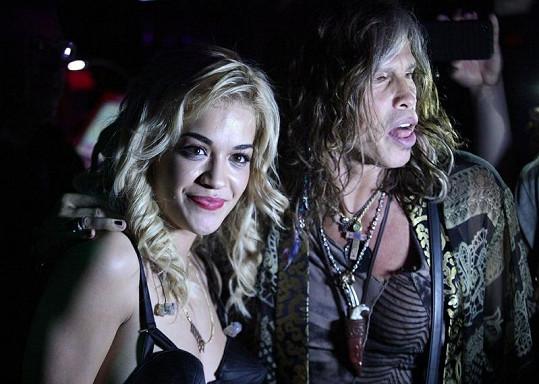 Steven Tyler a Rita Ora.