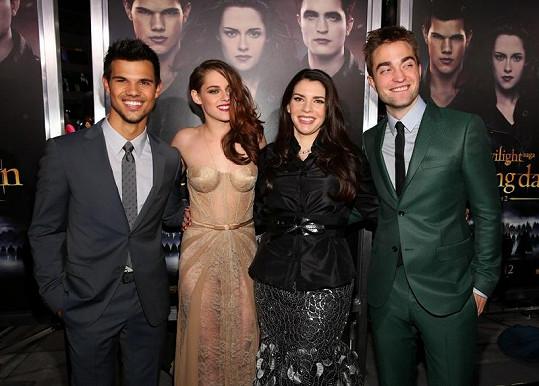 Autorka Twilight ságy s herci z Twilight ságy.