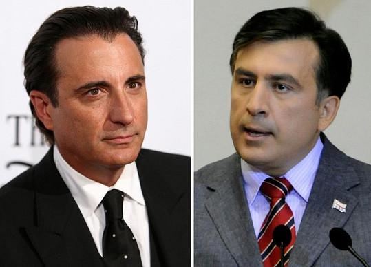Herec Andy Garcia (vlevo) a gruzínský prezident Michail Saakašvili. Jsou si podobní?
