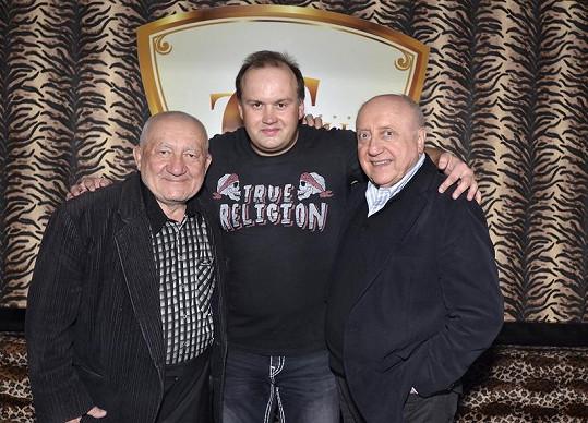Vítovi popřáli i Zdeněk Srstka s Felixem Slováčkem.