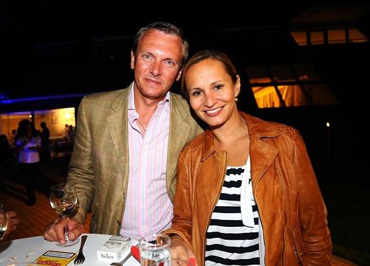 Monika Absolonová s přítelem Vratislavem Jandou.
