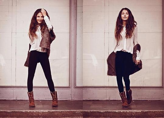 Sára Sandeva má modelkovské míry i výraz.