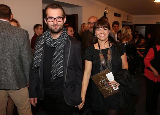 Marta Jandová přišla s přítelem Mirkem Vernerem.
