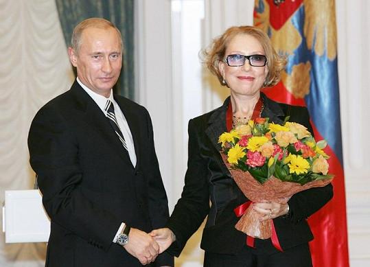 Vladimír Putin s Innou Čurikovovou v roce 2007.