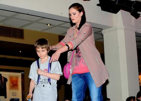 Natálie Kocábová se synem Vincentem.