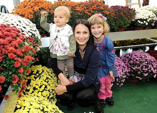 Herečka s dcerami Janou a Zuzanou