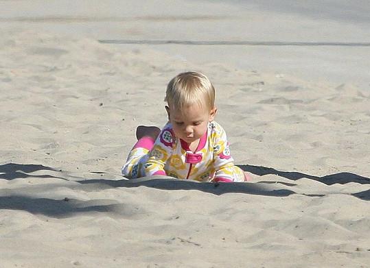 Willow poznávala taje pláže na Santa Monice.