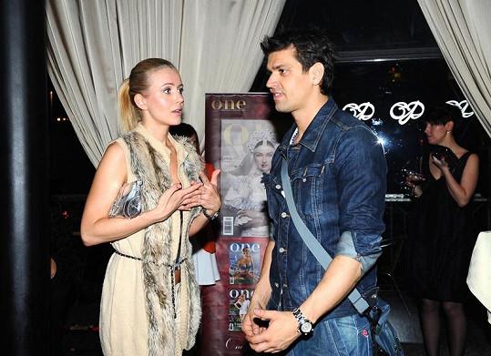 Petr Vojnar s bývalou snoubenkou Petrou Frantovou