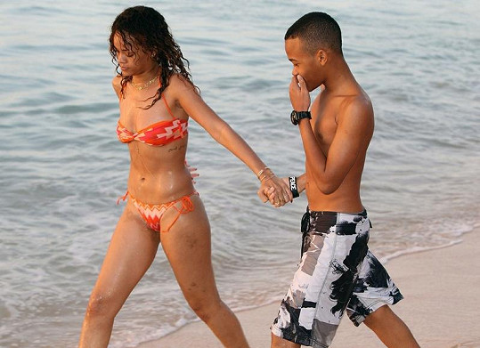 Rihanna s bratrem.