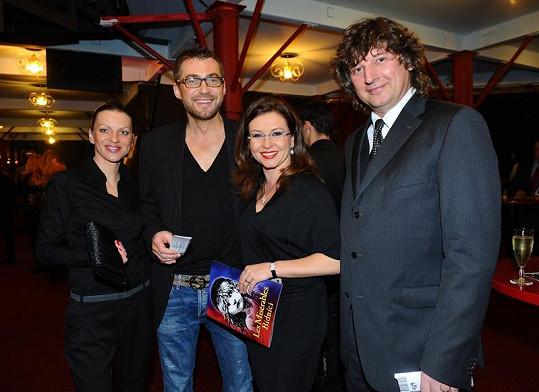 Bořek s partnerkou, Danou Morávkovou a Petrem Maláskem.