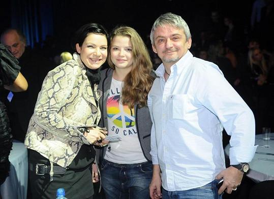 Anna K. s Michalem Suchánkem a jeho dcerou Berenikou.