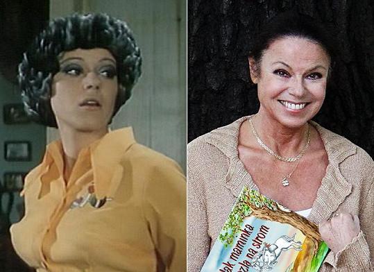 Eva Hudečková v roce 1974 a dnes.