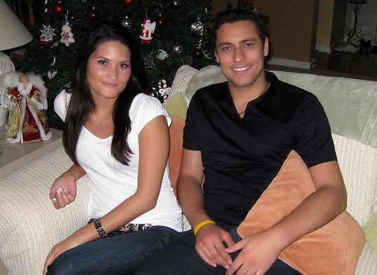 Ondřej Pavelec s expřítelkyní.