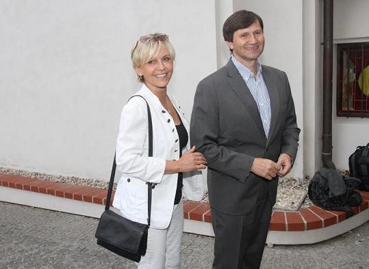 Miluše Šplechtová a Jan Hrušínský vypadali velmi elegantně.