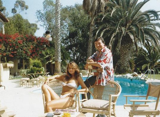 Krásné byly vždy i jeho partnerky, na snímku se svou tehdejší přítelkyní Jitkou.
