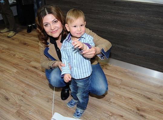 Ilona se synem Danielem.