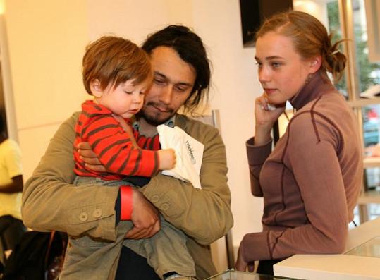 Pavel Liška s rodinou.