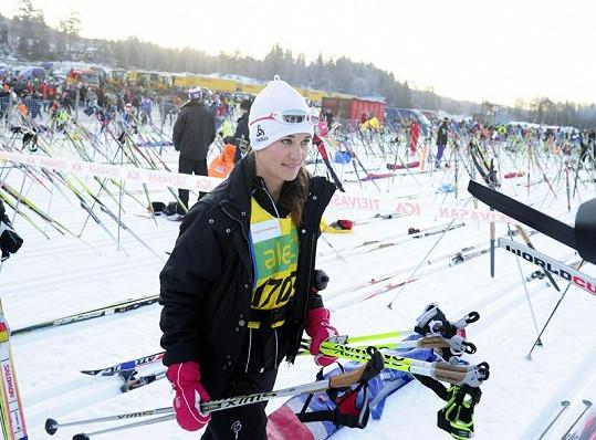 Pippa Middleton se účastnila lyžařského závodu ve Švédsku.