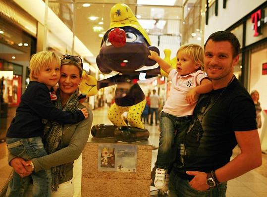 Monika a Leoš Marešovi se svými syny